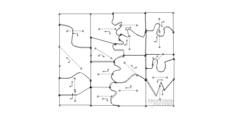 Pattern cutting making puzzle